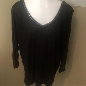 White House Black Market Women's Blk Tunic Top